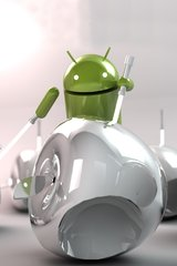 3D Android Apple Massacre Android Wallpaper