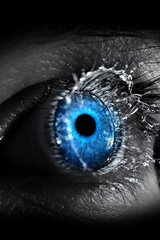 3D Blue Eyeball Splash Android Wallpaper