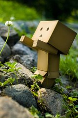 3D Box Robot Clover Android Wallpaper