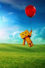 3D Box Robot Flying Balloon Android Wallpaper