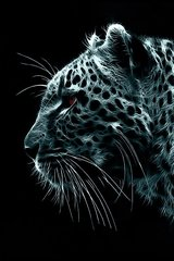 3D Fluorescent Leopard Android Wallpaper