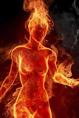 3D Woman On Fire Android Wallpaper