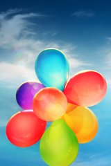 Samsung Galaxy S4 Ballons in Sky Android Wallpaper