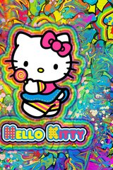 Hello Kitty Graffiti Android Wallpaper