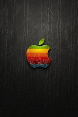 Apple Logo Texture Android Wallpaper