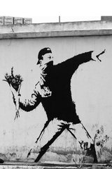 Banksy Flower Grenade Android Wallpaper