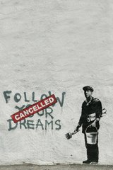 Banksy Follow Your Dreams Android Wallpaper