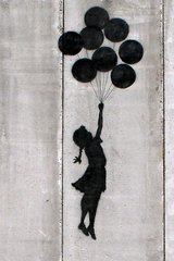 Banksy Girl Balloons Android Wallpaper