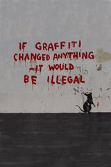 Banksy If Graffiti Changed Anything Android Wallpaper