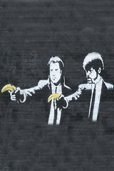 Banksy Pulp Fiction Android Wallpaper