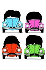 Beatles As Cars Android Wallpaper