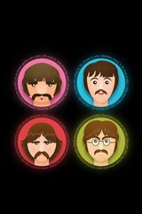 Beatles Cartoon Heads Android Wallpaper