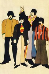 Beatles Cartoon Android Wallpaper