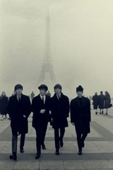 Beatles Eiffel Tower Android Wallpaper
