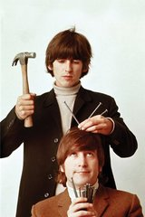 Beatles George John Hammer Head Android Wallpaper