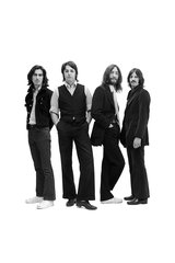 Beatles Group Long Hair Bw Android Wallpaper
