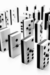 Black And White Dominos Android Wallpaper