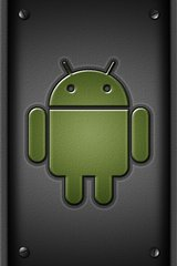 Black Android Guy Metallic Android Wallpaper