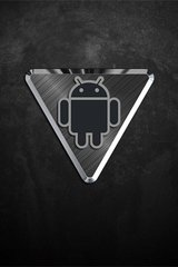 Black Android Yield Sign Android Wallpaper