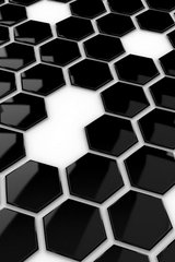 Black Hive Tiles Android Wallpaper