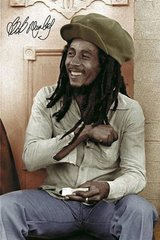 Bob Marley Green Hat Android Wallpaper