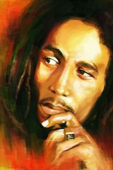 Bob Marley Painting Android Wallpaper