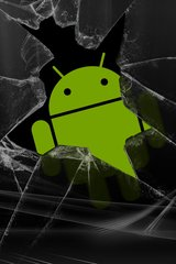 Cracked Android Guy Android Wallpaper