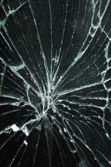 Cracked Bluish Black Android Wallpaper