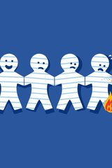 Funny Burning Paper Men Android Wallpaper