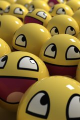Funny Yellow Happy Faces Android Wallpaper