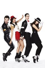 Glee Kurt Blaine Santana Rachel On Toes Android Wallpaper