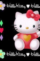 Hello Kitty Black Android Wallpaper