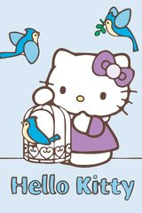 Hello Kitty Blue Birds Android Wallpaper
