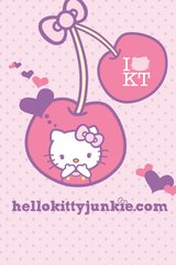 Hello Kitty Cherries Android Wallpaper