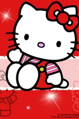 Hello Kitty Red Android Wallpaper