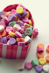 Love Candy Hearts Android Wallpaper