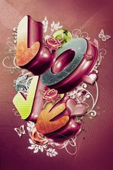 Love Fun Letters Android Wallpaper
