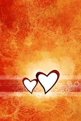 Love Orange Hearts Android Wallpaper