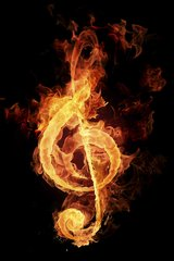 Music Key Fire Android Wallpaper