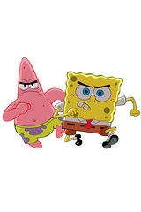 Spongebob And Patrick Running Android Wallpaper