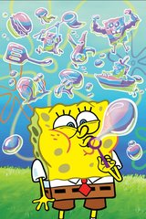 Spongebob Blowing Bubbles Android Wallpaper