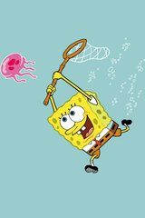 Spongebob Catching Jellyfish Android Wallpaper