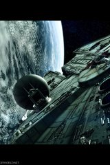 Star Wars Millenium Falcon By Alain Rivard Android Wallpaper