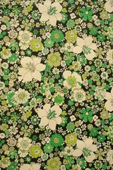 Vintage Flowers Green Android Wallpaper