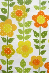 Vintage Flowers Yellow Orange Android Wallpaper