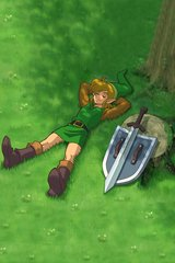 Zelda Link Relaxing Android Wallpaper