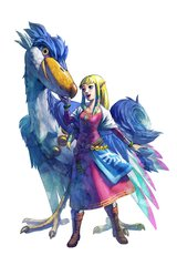 Zelda Skyward Sword Girl Bird Android Wallpaper
